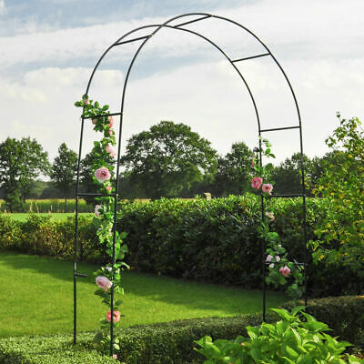 Metall Rosenbogen grün 240 cm - Torbogen Rankgitter Gartenbogen Rankhilfe rund