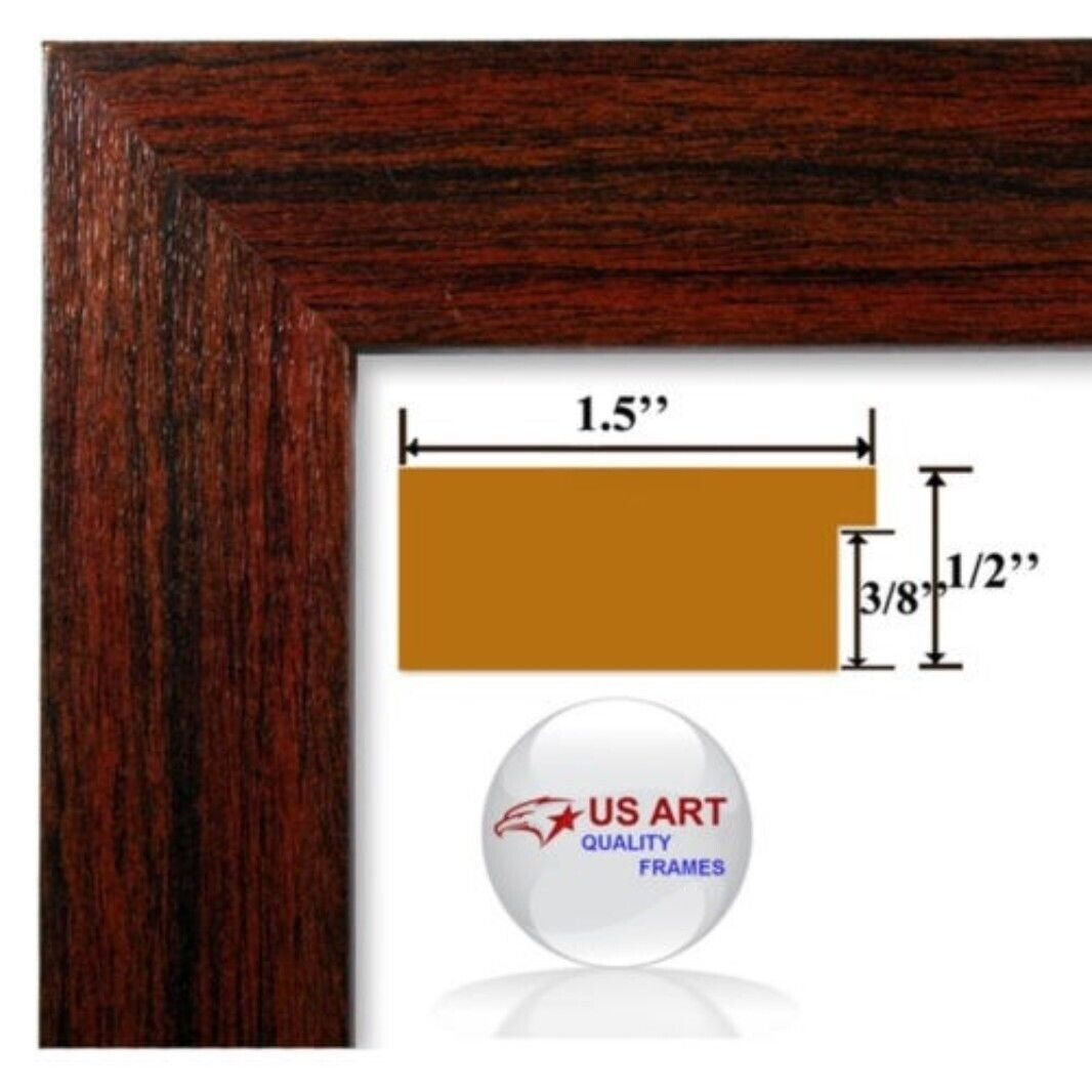 """US ART Frames 1/"""" Black Nugget Contemporary MDF Wood Picture Poster Frames S-17/"""""""