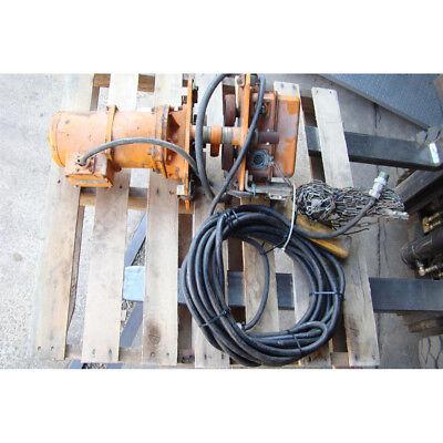 Harrington 1 Ton Chain Electric Hoist 220440v 3ph 60hz Ms3c-620