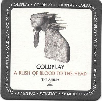 COLDPLAY A Rush Of Blood To The Head UK Promo Beermat