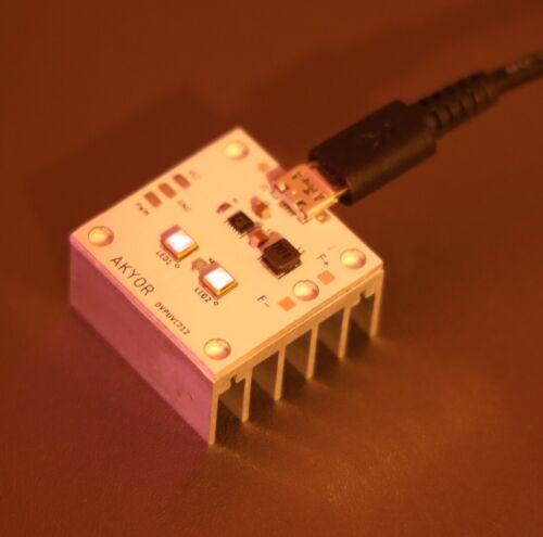 275nm UVC LED Ultraviolet Disinfecting Module UV-C USB Arduino Compatible