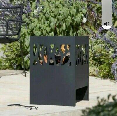 La Hacienda Fora Outdoor Fire Pit Log Burner Garden Patio Steel Fire basket