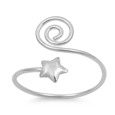 Sterling Silver Star Adjustable Toe Ring (Adjustable Star Toe Ring)
