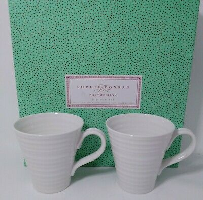 Portmeirion Sophie Conran 4 Peice Place Setting - White - 2 SETS