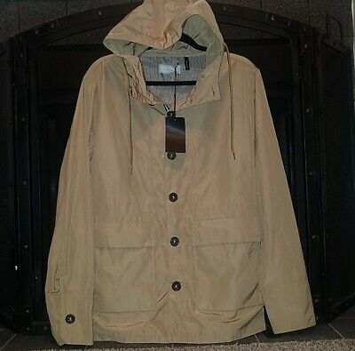 Five Four Khaki Jacket Full Button Up With Hood