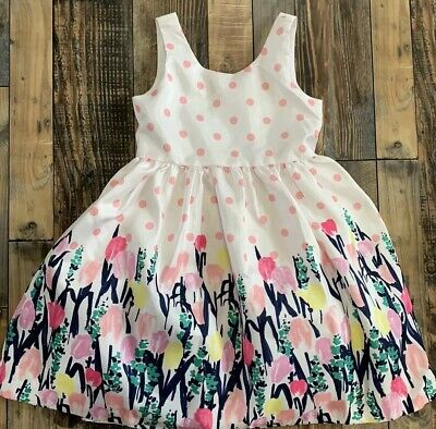 NWT GYMBOREE Girls Dressed Up Floral Tulips Easter WEDDING DRESS Size 8 - Girls Easter Dresses Size 8