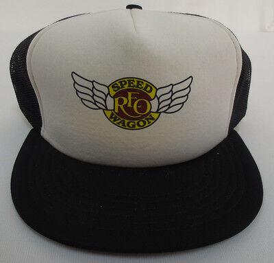 REO SPEEDWAGON SNAPBACK HAT CAP TRUCKERS MESH ROCK & ROLL VINTAGE R.E.O. VTG