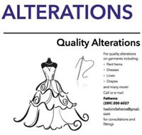 Alterations (tailor/seamstress)