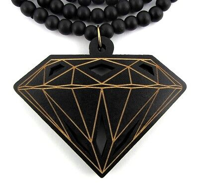Wooden Diamond Supply Co. Pendant Hip Hop Chain Necklace Good Custom Wood BBC - Necklace Supplies