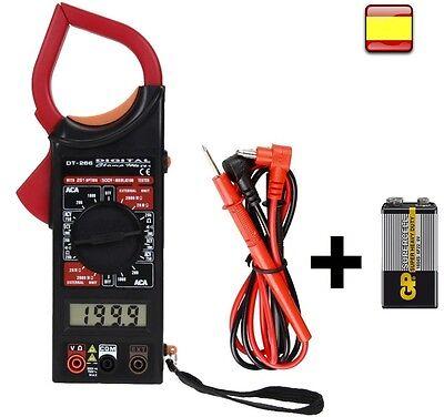 Multimetro digital Polimetro Tester Pinza amperimetrica PILA 9V INCLUIDA OFERTA