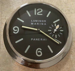 OFFICINE PANERAI Stainless Steel  Dealer Display Wall Clock