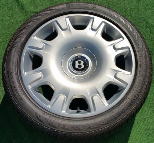 Set 4 Genuine Original Oem Factory Bentley Continental Flying Spur Wheels Tires