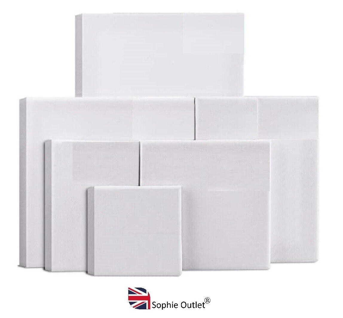 Professional Blank White ARTISTS CANVAS FRAME Painting Board Art Paint Craft UK