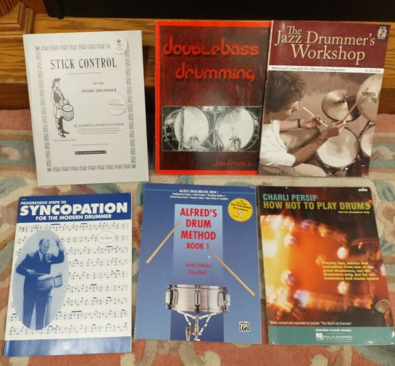 Lot of 6 Drumming / Percussion Instruction books and songbooks