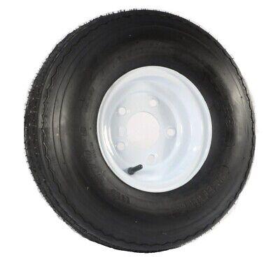 Trailer Tire On Rim 5.70-8 570-8 5.70 X 8 8 in. LRB 5 Lug Hole Bolt Wheel White