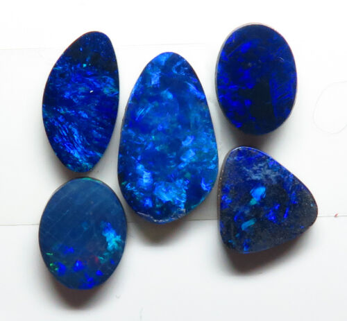 Doublet Opal 5 Stone 4.97ct Australian Free form Parcel