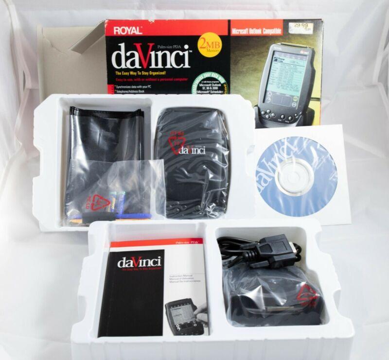 NEW VINTAGE Complete Royal daVinci Palm-Size PDA 2MB Outlook Compat FREE SHIP