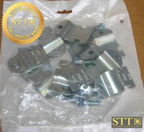 """P1111eg Unistrut Pipe Clamps For 1/2"""" Rigid Steel Conduit (10 Sets/pkg) New"""