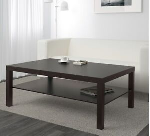 Ikea LACK Black Brown Coffee Table
