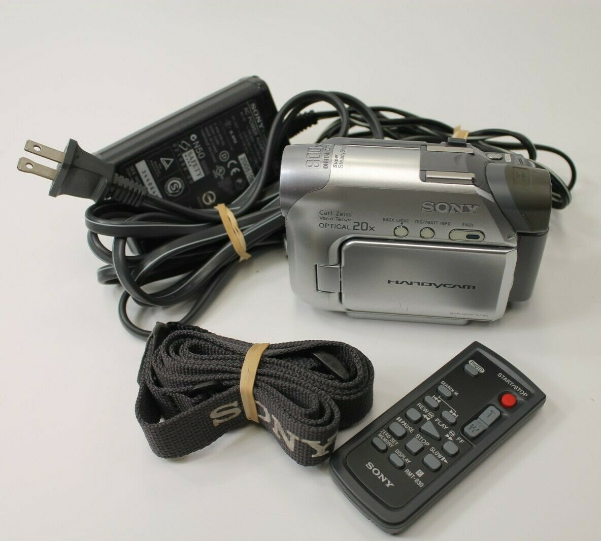 Sony Handycam DCR-HC21 Digital Video Mini DV Camcorder Cords/Remote/strap TESTED - $89.99