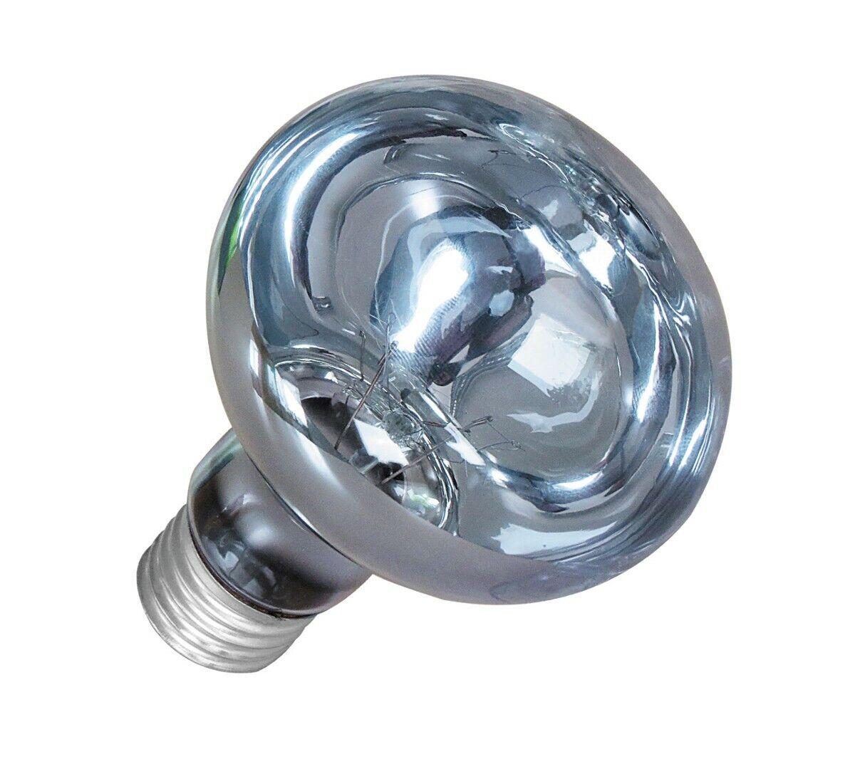 Wärmelampe Wärmestrahler Lampe Glühbirne Weißlampe Terrarium 25-100 Watt E27