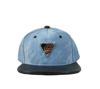 Hater Washed Denim Snapback with Leather Brim