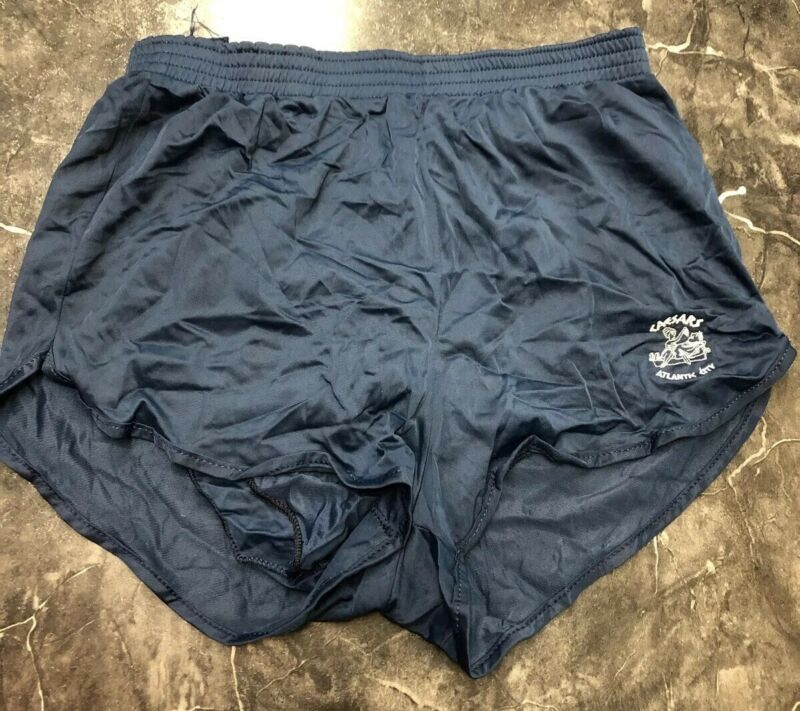 Vtg 80s Ceasar Navy Blue Soffe Athletic Shorts Mens L Lined Nylon Running Trunks