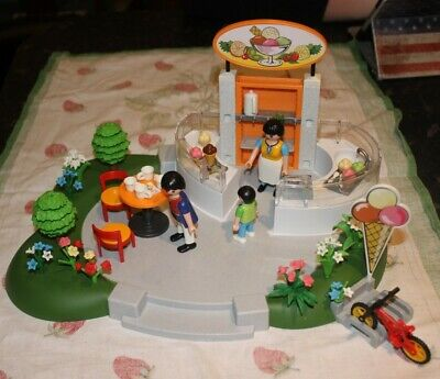playmobil City Life Theme 4134 Superset Ice Cream Parlour unboxed 100% complete