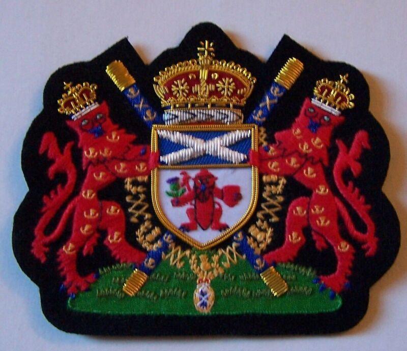 Royal Scottish Scotland Lion King Clan Lord Lyon Tartan Crest Heraldry COA Patch