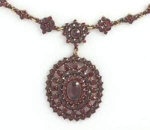 Antique necklace ebay antique garnet necklace aloadofball Gallery