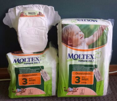 1.5 packets (approx 60) Moltex Eco Disposable Nappies Midi/ 4-9kg Mount Colah Hornsby Area Preview