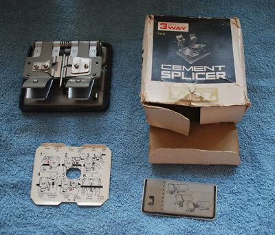 Vintage LPL 3 Way Cement Splicer. Super 8, Regular 8-16. Original Box