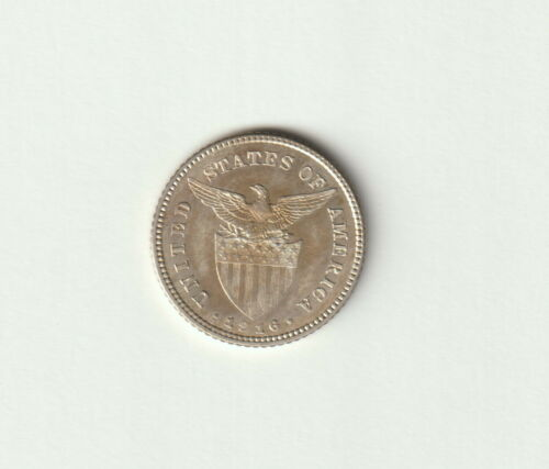 Philippines-U.S.,20 Centavos Coin,1916-S Uncirculated Condition,KM#179