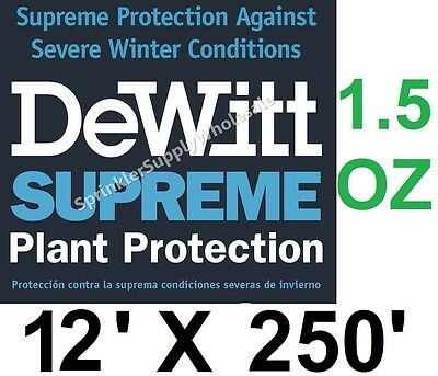 (DeWitt Supreme 12' X 250' 1.5 oz Frost Cloth Freeze Blanket Supreme12-2 Fabric)