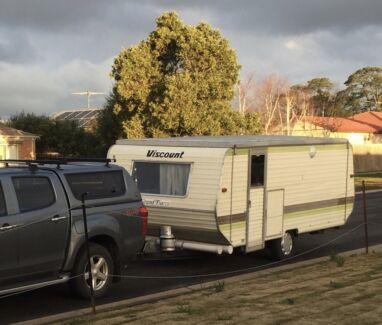 Refurbished viscount bunk caravan