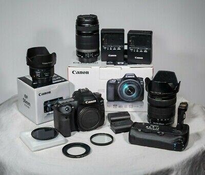 Canon EOS 80D - LOW SHUTTER COUNT + 3 LENSES + BATTERY GRIP + ACCESSORIES