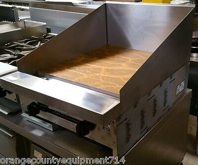 New 24 Flat Top Griddle Plancha Grill 12 High Back Splash Stratus Smg-24 4097