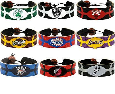 leather basketball bracelet NBA PICK YOUR TEAM gamewear  Basketball Gamewear Bracelet