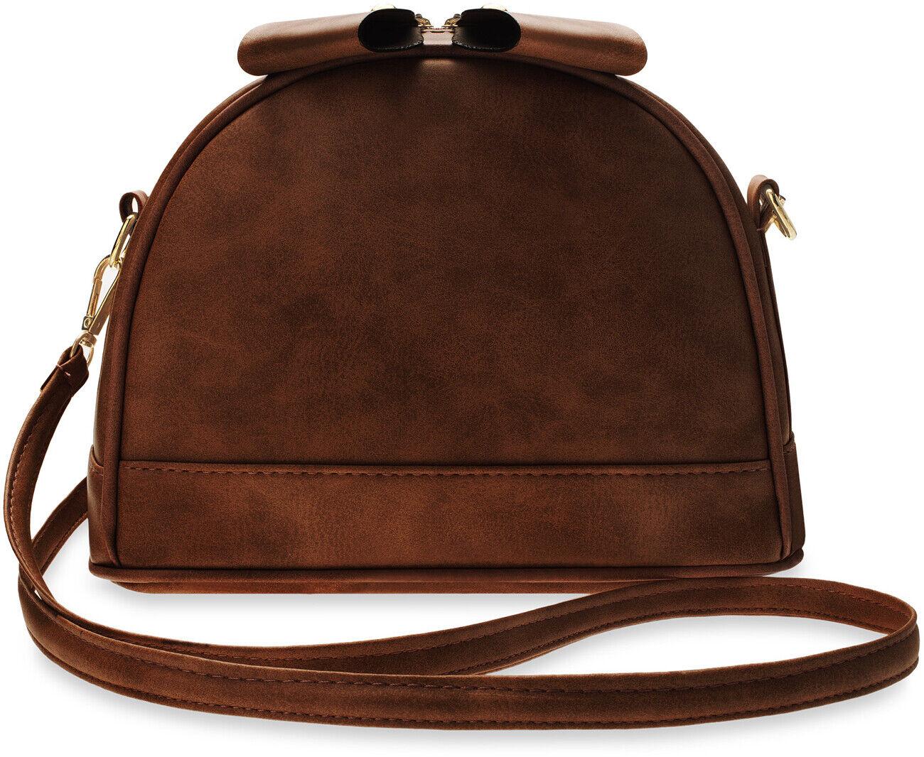 kleine Damentasche Vintage Stil Damen Handtasche braun
