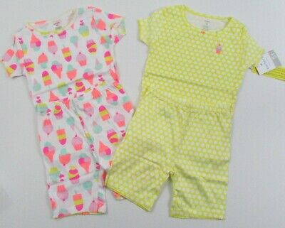 Carters Girl Snug Fitting Pajamas Cupcakes and Yellow Polka Dots  - Polka Dots Cupcakes