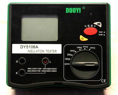Saledigital 5000v Multi-range Insulation Resistance Tester Megohmmeter Dy5106a