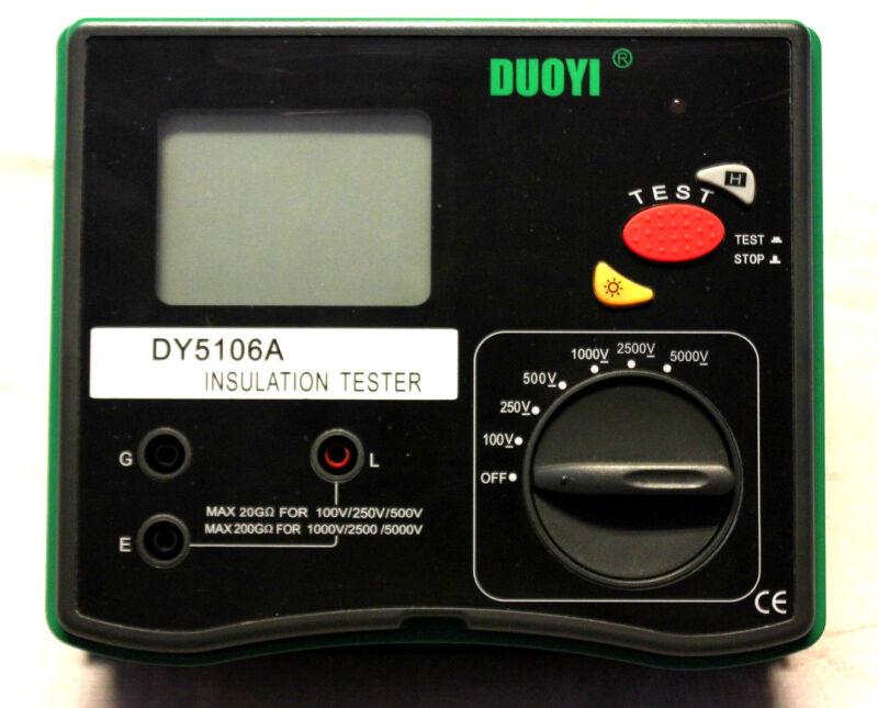 Sale!!Digital 5000V Multi-range Insulation Resistance Tester Megohmmeter DY5106A