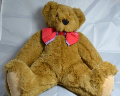Vermont Teddy Bear   Sitting Teddy Bear With Red Bow Tie  11 Inches