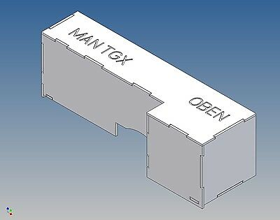 ME: Elektronikbox  für TAMIYA MAN TGX (M 1:14,5 )