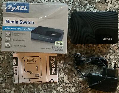 Zyxel Communication GS-105SV2-EU0101F 5-Port Desktop Giga Ethernet Media Switch