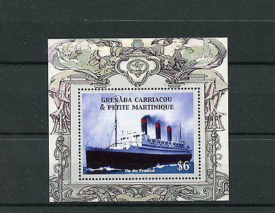 Grenadines Grenada 2004 MNH Ocean Liners 1v S/S Ile de France Ships Boats Stamps - Caraibi Liner