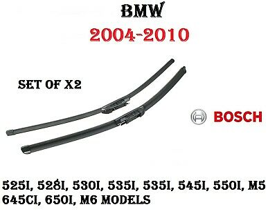 BMW 525 528 530 535 545 550 645 650 M5 M6 Windshield Wiper Blade Set-OE Style