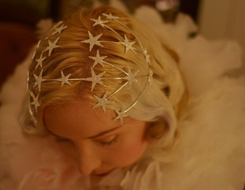1930s vintage style tiara wedding burlesque accessory