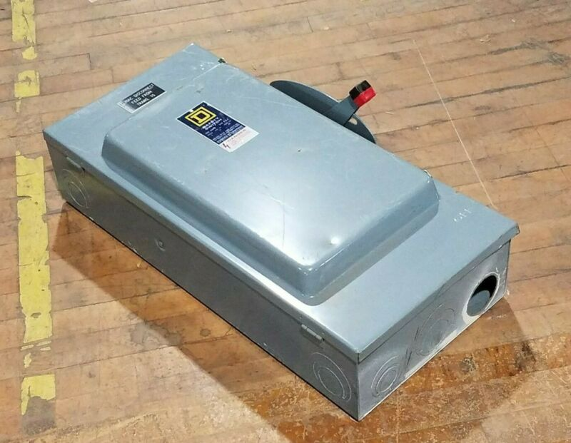 Square D H-324 Heavy Duty Safety Switch 200A 240V Ser E1 Type 1 Enclosure H324