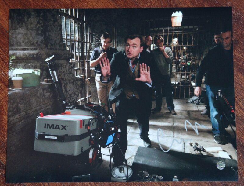 GFA Dark Knight Rises Director * CHRISTOPHER NOLAN * Signed 11x14 Photo MH2 COA
